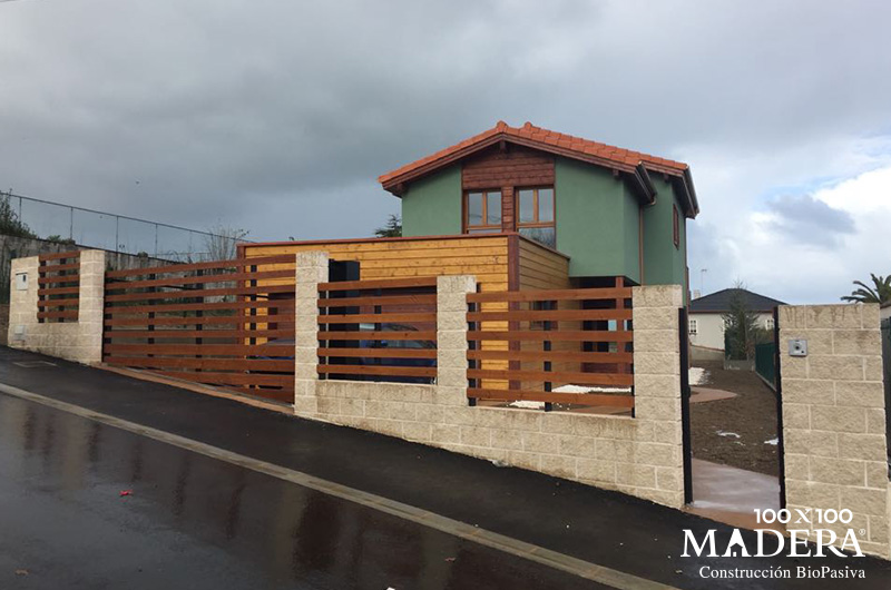 Casa de madera biopasiva oleiros galicia 100x100madera - Casa de madera galicia ...