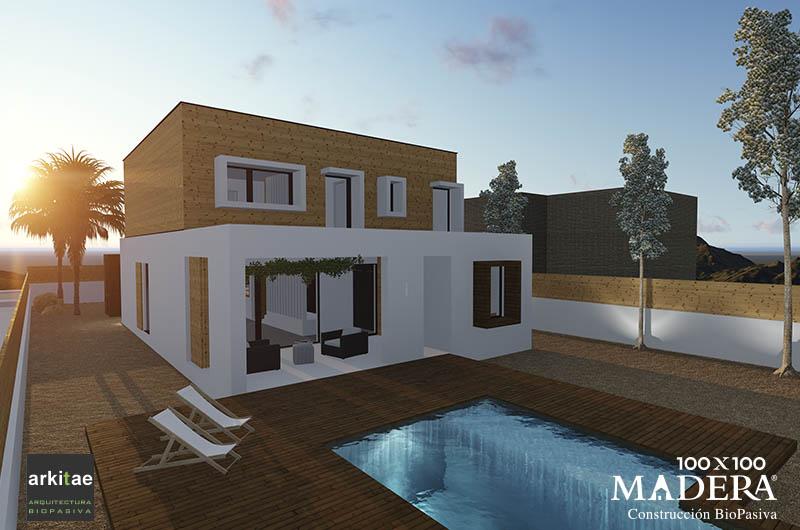 Casa De Madera Biopasiva Molina De Segura Murcia 100x100madera